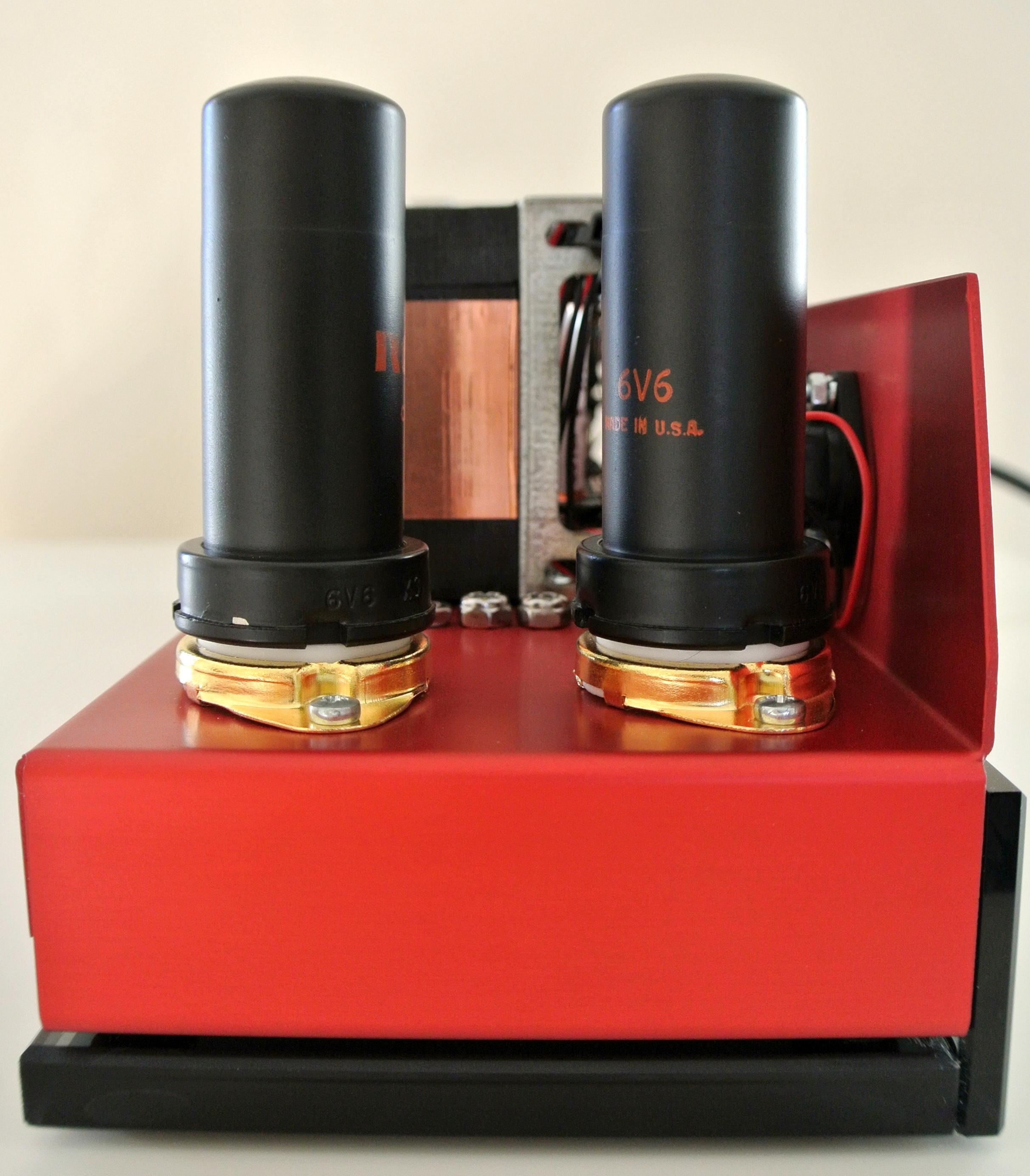 Amplifier Set on Glass Plinth