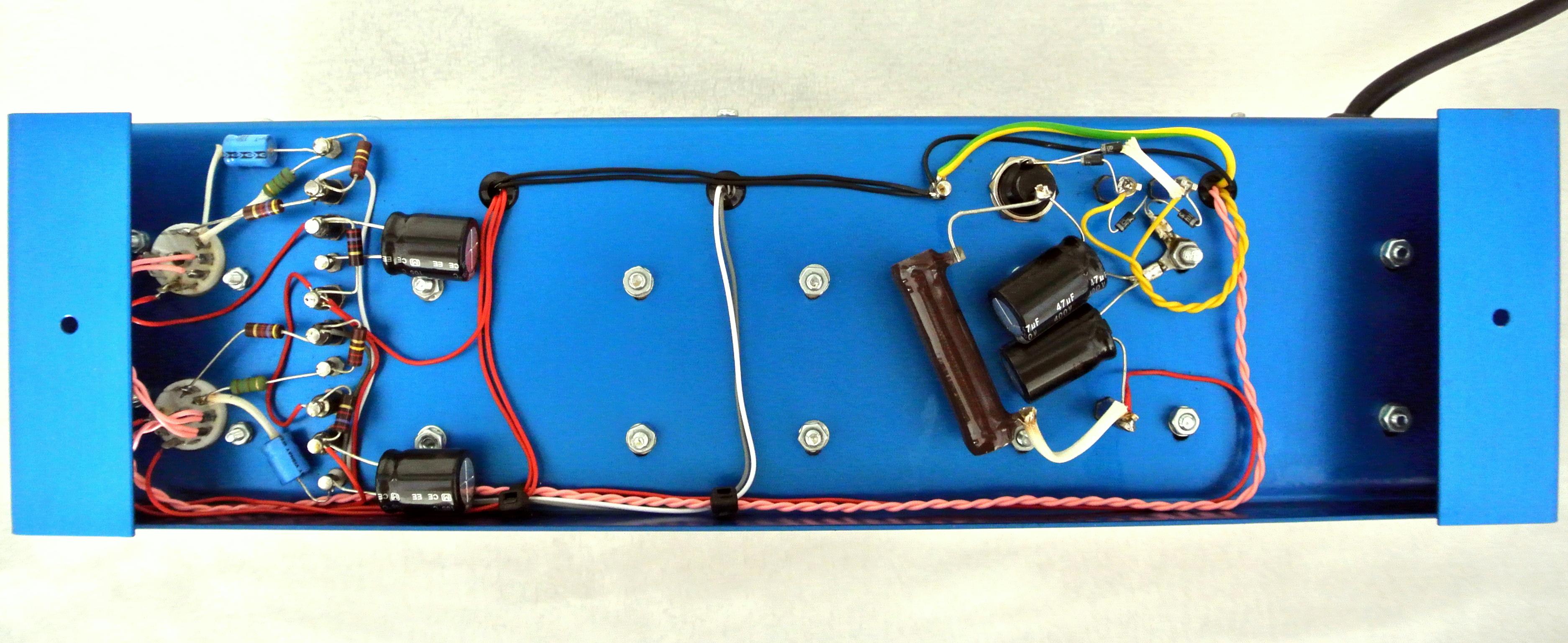 6V6 Model in Anodized (Electric) Blue - Underside